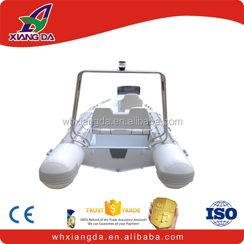 Deep V hull aluminum rib hypalon inflatable boat