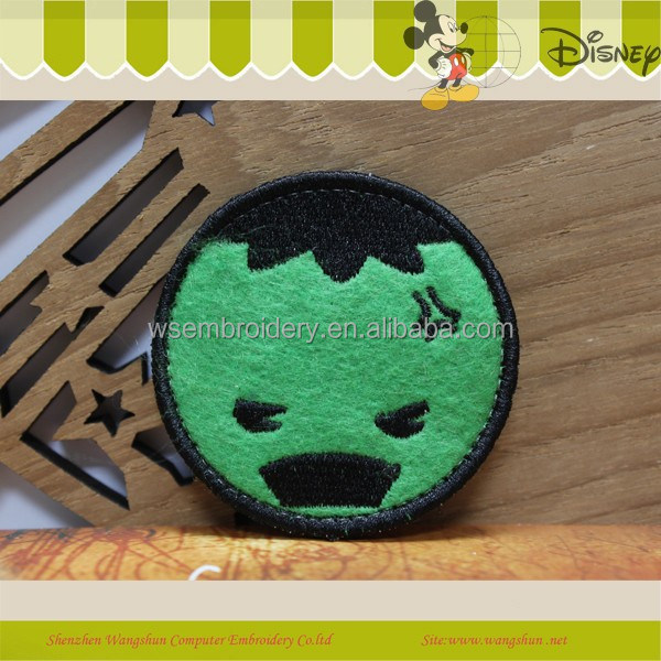 Hot Sale Cartoon Green Embroidery Patch Sew-On Kid's Garment