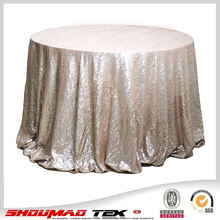 Champagne/gold/silver glitter embroidered sequin table cloth