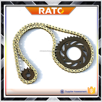 China factory cheapest motorcycle chain and sprocket