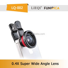 Original LIEQI optical galss 0.4X SUPER WIDE lens with universal clip for mobile phone lens hot selling model LQ-002