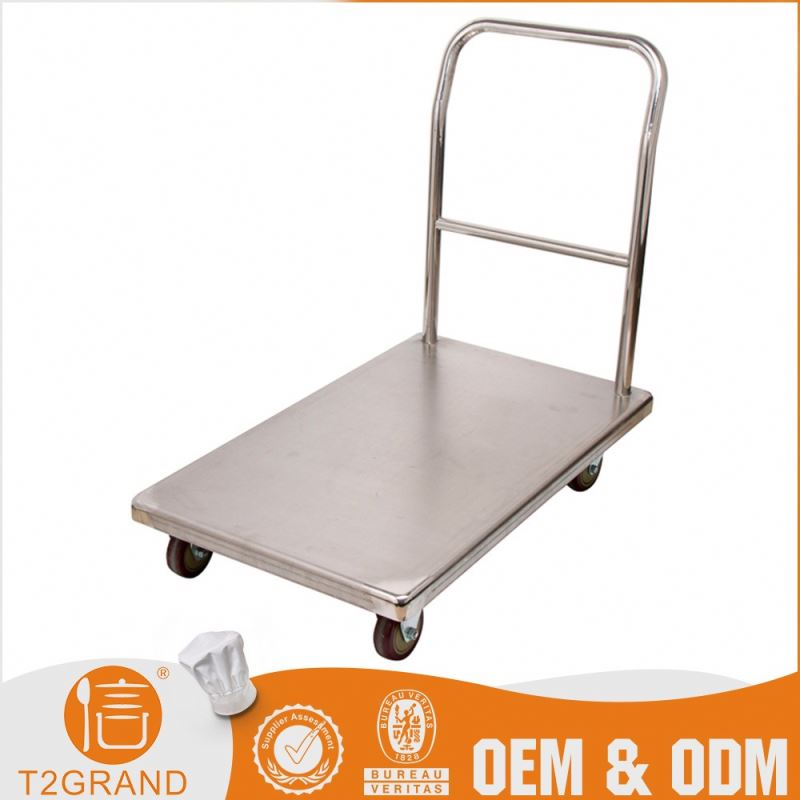 Discount Oem Production Stainless Steel Mini Hand Cart Hand Pull Trolley