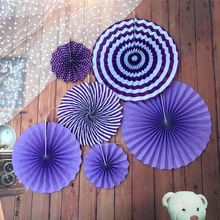 Decorative Paper Fan flower Paper Rosettes Pinwheel Fans Background Birthday Party Baby Showers Weddings Decor