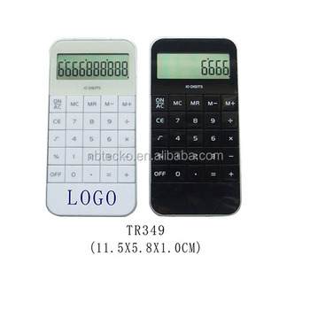 Battery operated plastic 10 digits mini handhold office calculator
