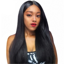 10 A grade unprocessed virgin European hair full lace wig 180 density long straight full lace wig