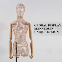 High quality new design exhibition stand fashion female metal wire mannequin