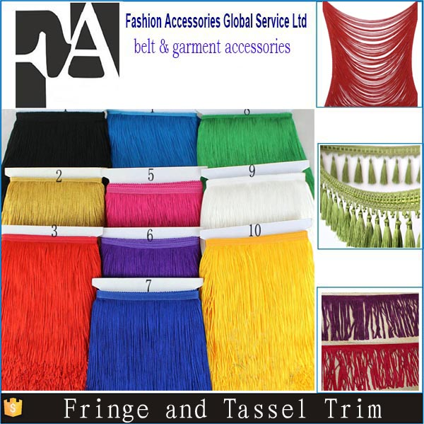 Tassel and Fringe Trim Loop Fringe