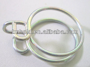 top standard double rings wire hose clamps without m8 screw