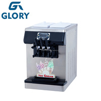 China Supplier Table Top 2+1 Mixed Flavors Ice Cream Machine/ Soft Ice Cream Machine/ Ice Cream Making Machine For Sale