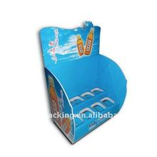 two rows counter display stand for bottles