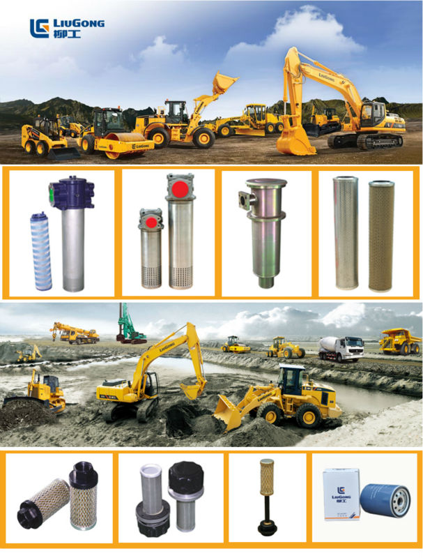 Steel hydraulic oil filter elements original dressta parts OEM factory lube filters cores filtros parts