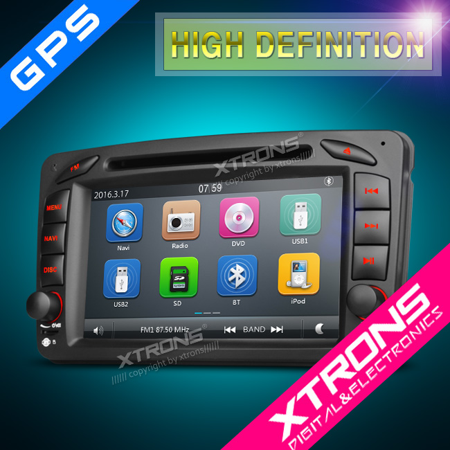 2016 Xtrons hot selling PF72M203GT 7inch 2din car stereo for mercedes w203
