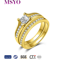 MSYO brand Wholesale spikes stainless steel latest gold ring designs fashion ziron gold ring