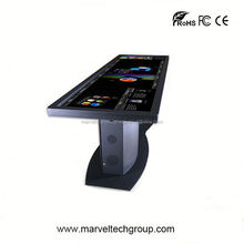 interactive mutil touch screen standing touch kiosk reporting