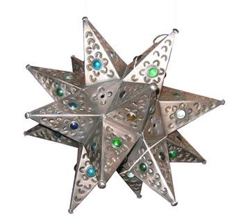 Mexican tin star light