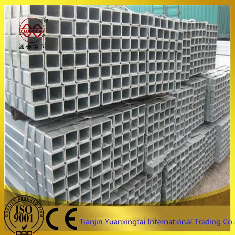 alibaba Tianjin supplier made in china zinc coating cold formed rectangular tubes / tube size