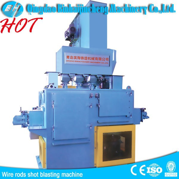 Rod Oxide Shot Blasting Cleaning Machine /Coil And Wire Shot Blasting Machine