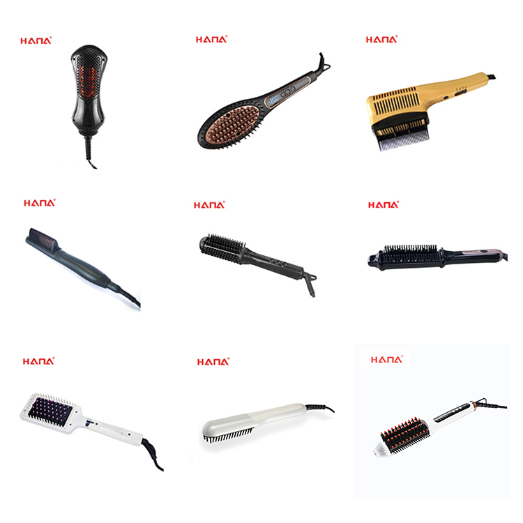 HANA 140C-200C LCD Infrared function hair care styling hair straightener comb electric hair care straightener comb