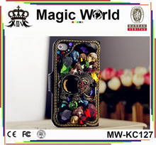 Leather Wallet Bling Flip Case Luxury Full Cover Big Crystal For Iphone5/5S/SE/6/6S