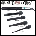 Professional 5 in 1 interchangeable hair curling iron wand