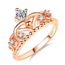 KY-27 Gold Crown Finger Ring Rings Design For Women With Price Tiara Ring Engagment
