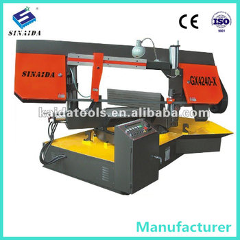 0 to 45 degree Angle Metal Cutting Band Saw Rotating machine