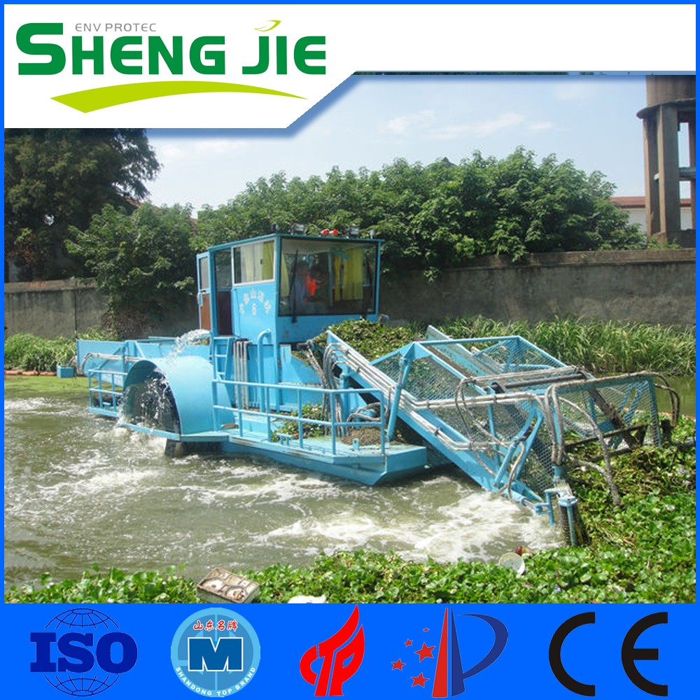 diesel driven aquatic weed harvester/harvesting machine