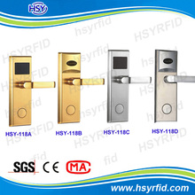 Electronic handle RFID hotel card reader door lock from HSY