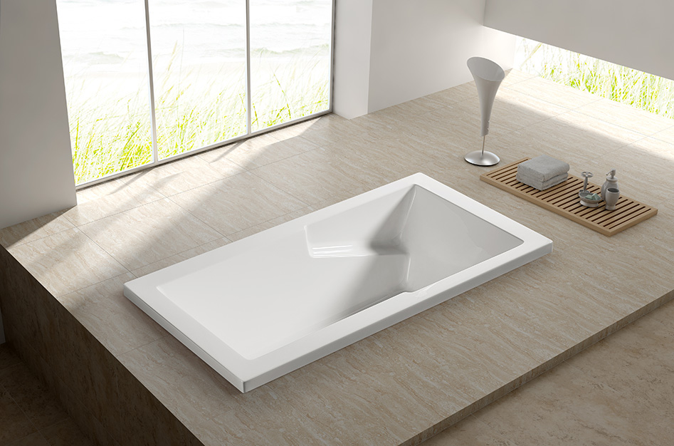 Model: Q156B drop in european soak tub/ bathtub/ 1 seat bathtub ...