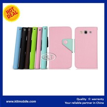 leather flip case for huawei ascend g700 Wholesale Phone Accessory Trifold slim leather case