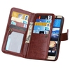 New 9 cards slots Crazy Horse Texture Flip Leather case for HTC One M9 case