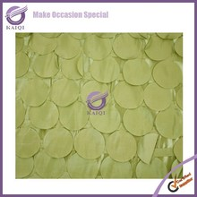 18265-3 Top quality green chameleon fabric crushed taffeta cutwork table cloth