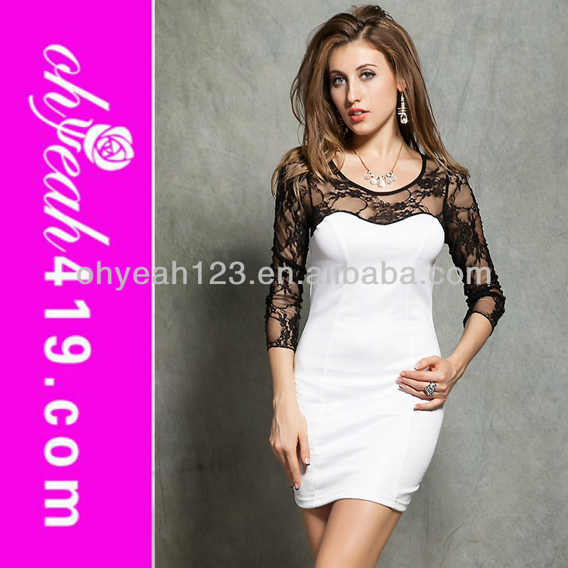 2014Newest wholesale white full colors beautiful cheap sexy white simple party dresses