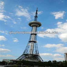 CCTV steel pole tv tower stand and broadcast tower
