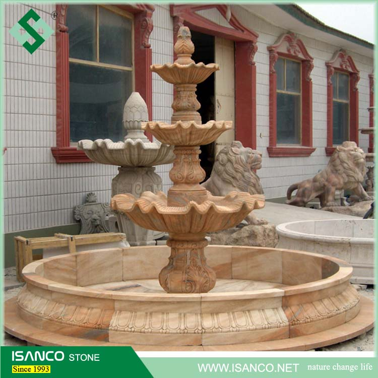 Large water Fountain In Stone Garden Products and Indoor water fountain design