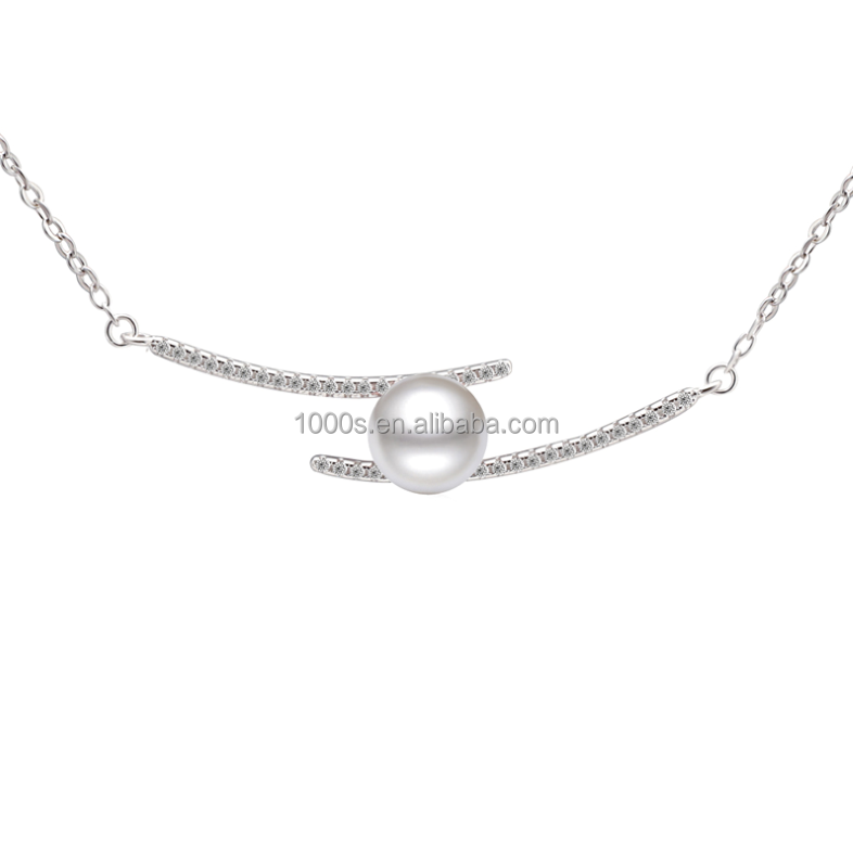 2016 hot sale new product pearls simple necklace , fashion jewelry
