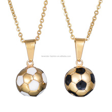 Hip hop design jewelry stainless steel football pendants necklace