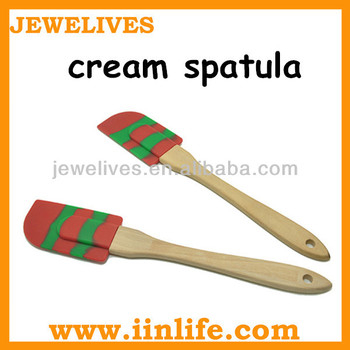 Silicone kitchen scraper cream spatula