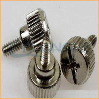 Anodized aluminum thumb screw knurled