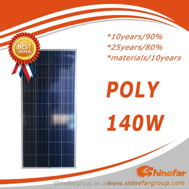inverter solar power system poly PV module/cheap mono/poly solar panel 140w for solar mounting system