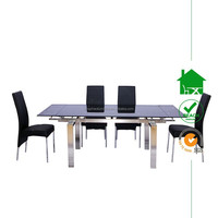 DT-2038 Glass Extended Dining Table