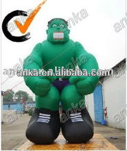giant inflatable monster (green,entertainment,advertising)