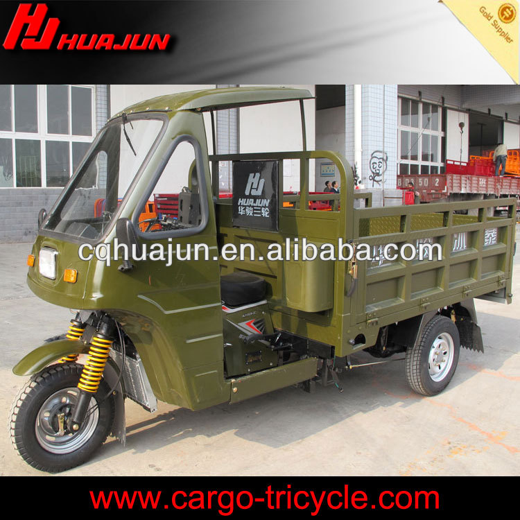 HUJU 200cc 175cc 150cc three wheel motorbike / cargo pedal bike / sidecars for motorcycles for sale