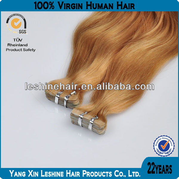 100% human virgin remy highest grade on sale cheap tape hair extensions