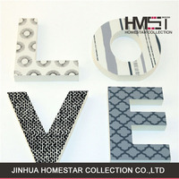 Factory sale new product letter shape home decoration for lovers
