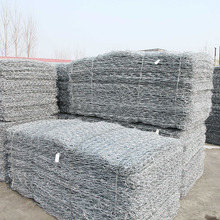 Galvanized Rock Basket Wire Mesh / Maccaferri Gabion / Stone Cage for sale