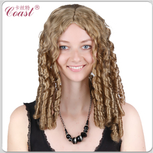 middle parting synthetic wigs curly
