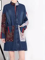 2017 beautiful women jackets denim jeans patterns designs fashion ladies winter long coats