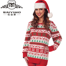 2016 Baiyimo wholesaler ugly christmas sweater hot selling