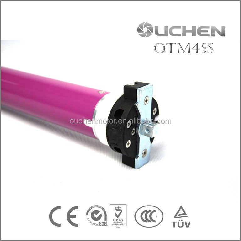 OUCHEN Automatic AC Tubular Electric Curtains Motor Roller shutters Intelligent Remote Control Lifting